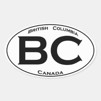 BC (British Columbia) Oval Logo Oval Sticker