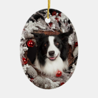 BC Christmas Ceramic Ornament
