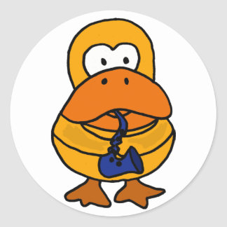 BC- Duck Playing the Saxophone Sticker