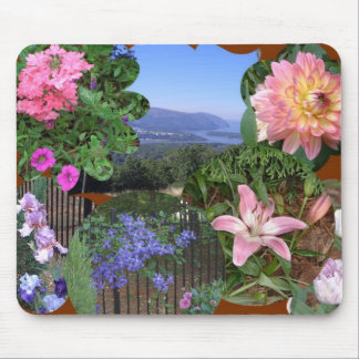 BC- Fun Floral Collage Mouse Pad