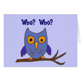 BC- Funny Owl Birthday Card