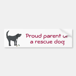 BC- Proud parent of a rescue dog sticker Bumper Sticker
