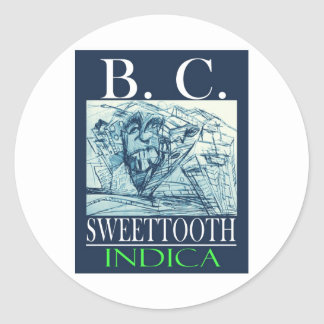 BC SWEETTOOTH INDICA CLASSIC ROUND STICKER