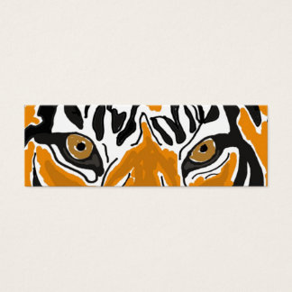 BC- Tiger Eyes Bookmark Mini Business Card