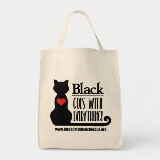 BCHR Black Goes With Everything! Grocery Tote