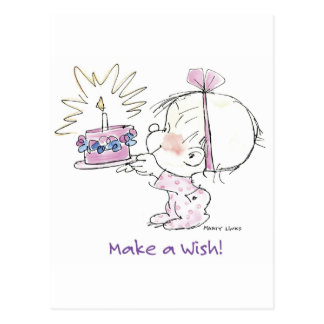 BD-002 Birthday Wish Postcard