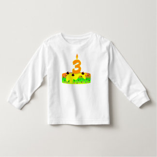 BD Cake Candle 3 Toddler T-shirt