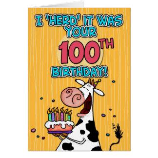 bd cow - 100 card