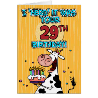 bd cow - 29 card