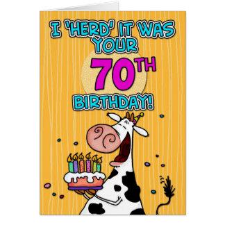 bd cow - 70 card