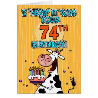bd cow - 74 card