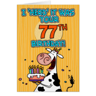 bd cow - 77 card