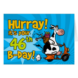 bd scooter cow - 46 greeting card