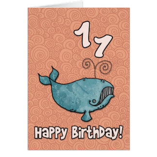 bd whale - 11 greeting card
