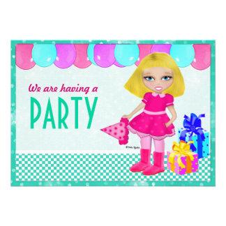 Bday Girl Personalized Invite
