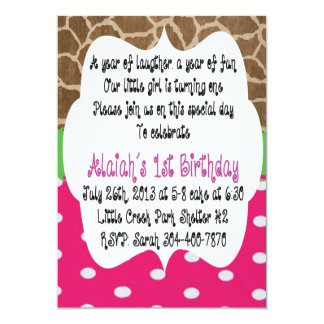 "bday 5"" x 7"" invitation card"