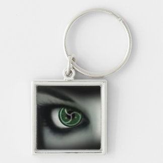 BDSM EYES Silver-Colored SQUARE KEYCHAIN