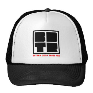 BDTR(Better Dead Than Red) Primary Logo Hat