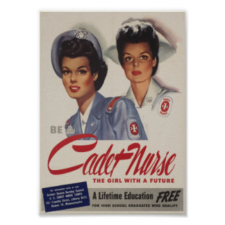 Be a Cadet Nurse Poster