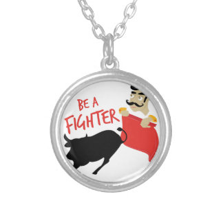 Be A Fighter Silver Plated Necklace