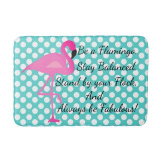 Be a Flamingo Polka Dot Bath Mat