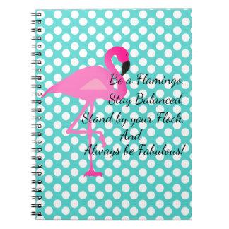 Be a Flamingo Polka Dot Notebook