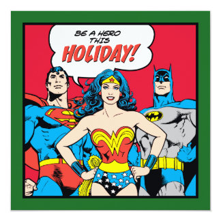 Be A Hero This Holiday From The Justice League Card