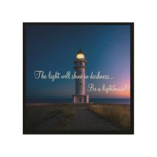 Be a Lighthouse Wood Wall Art