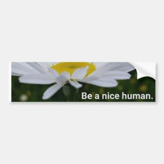 Be a Nice Human Bumper Sticker