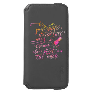 BE A pin Apple: stood tall, wear A crown, for BE Incipio Watson™ iPhone 6 Wallet Case