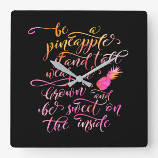 BE A pin Apple: stood tall, wear A crown, for BE Square Wall Clock