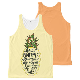 Be A Pineapple All-Over-Print Tank Top