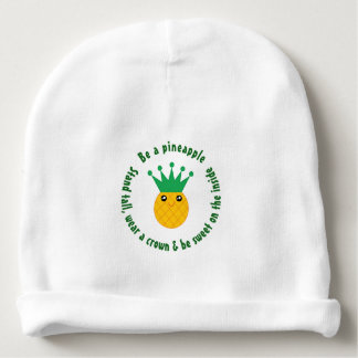 Be A Pineapple Inspirational Quote Unisex Baby Beanie