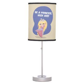 Be a princess, kick ass! - Table Lamp