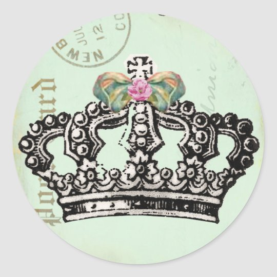 Be a QUeeN Classic Round Sticker