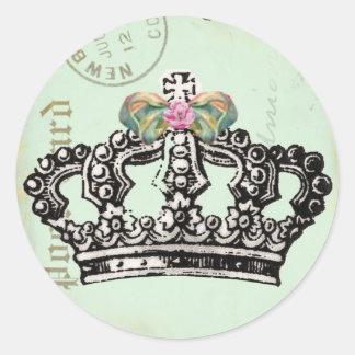 Be a QUeeN Round Sticker
