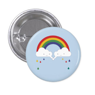 Be a Rainbow 1 Inch Round Button