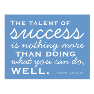 Be A Success -  Motivational Postcard