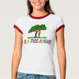 BE A TREE HUGGER - JOKERMAN RAINBOW FONT SHIRTS