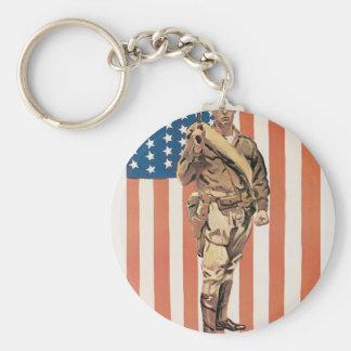 """Be a U.S. Marine!"" circa 1918 Basic Round Button Keychain"
