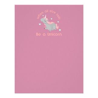 Be a Unicorn Letterhead