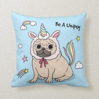 Be A Unipug Throw Pillow