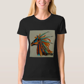 """Be a Warrior"" Womens Watercolor T-Shirt"