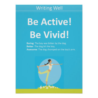 Be Active! Educational Writing Poster