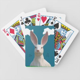 Be Afraid! Creepy Bunny Art! Poker Deck