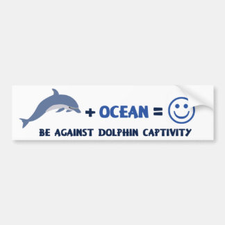 BE AGAINST DOLPHIN CAPTIVITY BUMPER STICKER