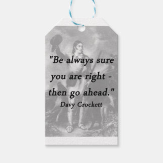 Be Always Sure - Davy Crockett Pack Of Gift Tags