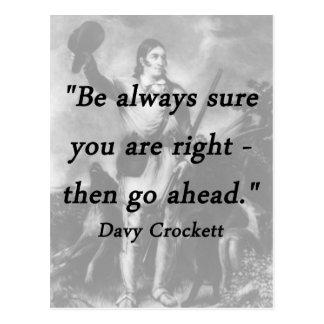 Be Always Sure - Davy Crockett Postcard