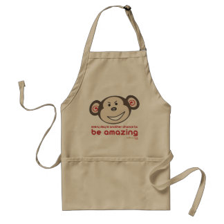 'Be Amazing Monkey' Apron (Adults)