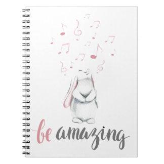 Be Amazing Music Bunny Notebooks